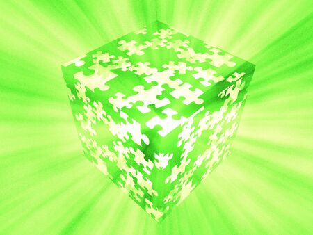 puzzle box green photo