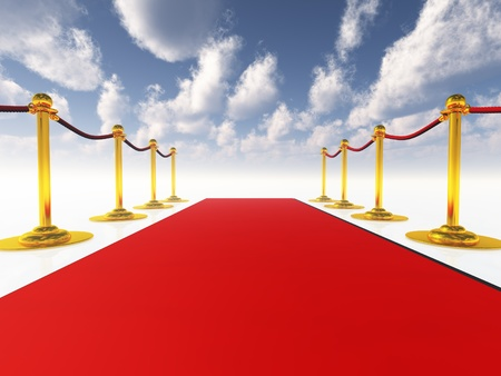 exclusive: Red Carpet Stock Photo
