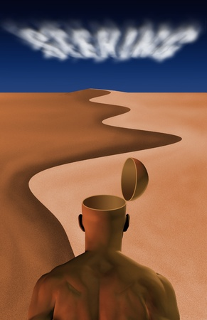 Man in desert photo