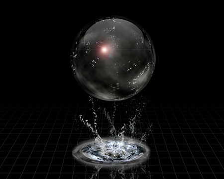 Crystal Sphere and splash Stock Photo - 10055977
