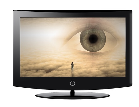 Flat Panel with surreal image photo