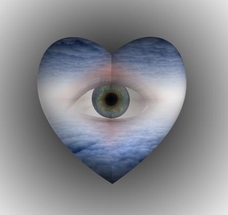 corazones azules: Ojo de coraz�n