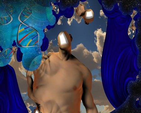 DNA and Human Mind Abstract Stock Photo - 10120464