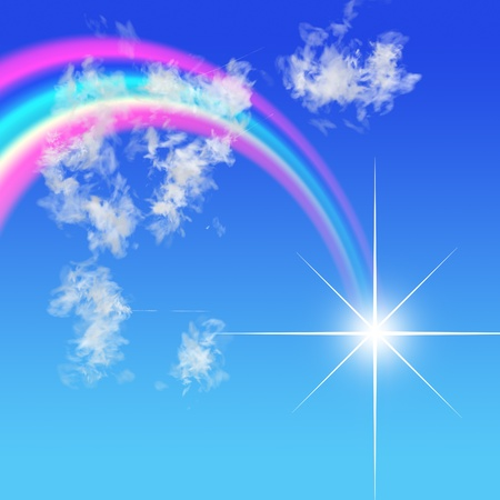 Regenbogen Standard-Bild - 10120437