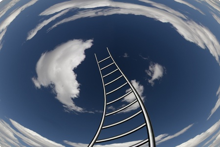 Twisting Ladder Leads to Sky photo