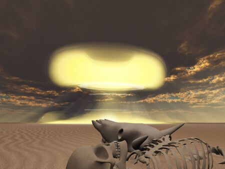 Skeletal remains and nuclear explosion