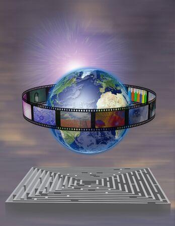World Film with Maze  photo