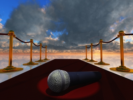 blockbuster: Red Carpet and Microphone