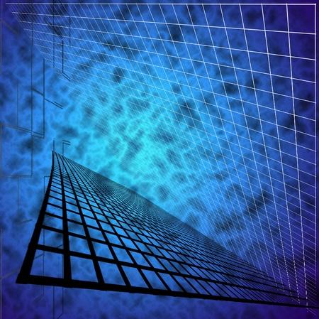 convergence: Receding Element Background Stock Photo