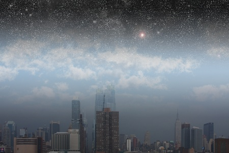 sky  dramatic: NYC with Stars