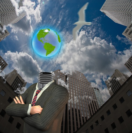 aspirations ideas: City Earth Idea Stock Photo