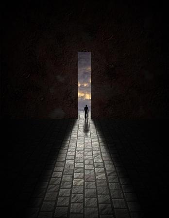 Uomo prima di grande apertura