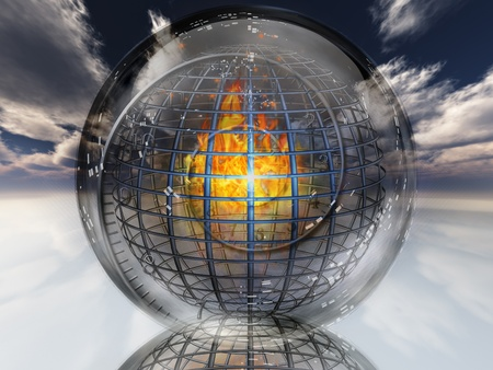 grate: Fire contained in sphere
