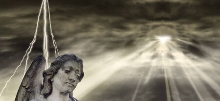 old times: Angel and dramatic Sky
