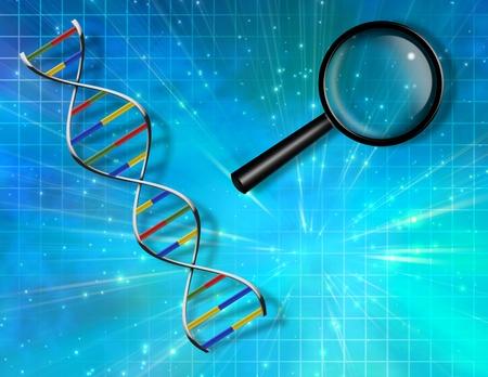 investigaci�n: ADN de fondo Foto de archivo