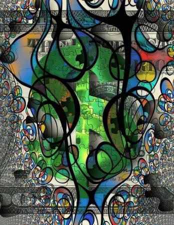 Modern Art Money Abstract photo