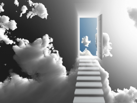 heaven: Doorway Sky Stock Photo