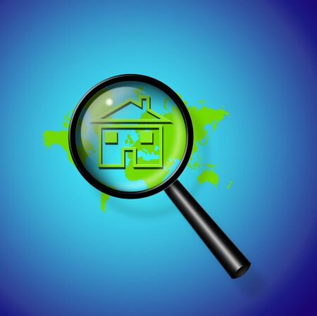reveals: Magnify Glass Reveals Home and world map