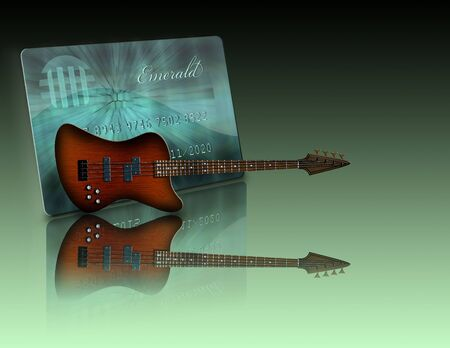 Credit Card and Guitar Not actual items all items illustrated