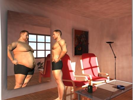 disordine: l'uomo vede la possibilit� a specchio