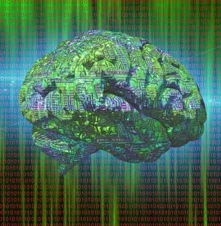 Elektronická Brain Reklamní fotografie