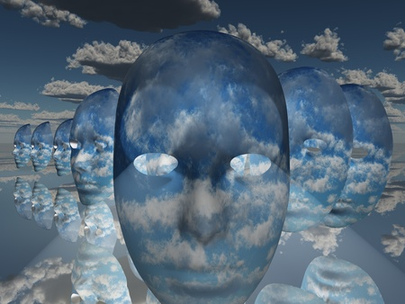 clouds: Surreal Face