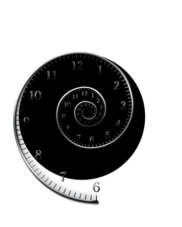 time zone: spiral_for_clock Stock Photo