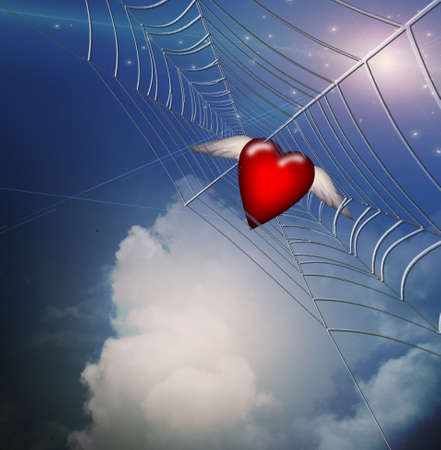 Hearts Caught in Web photo