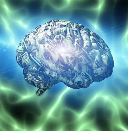 mente humana: Cerebro compuesto de divisas EE.UU.