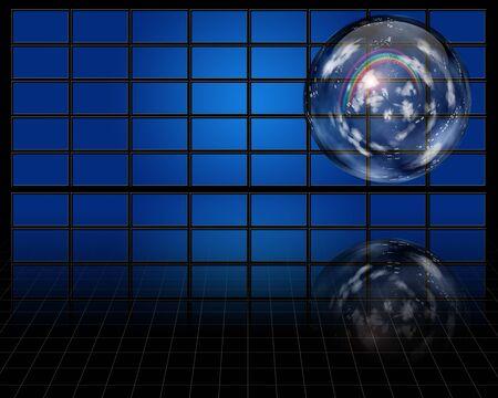 atmosphere: Crystal sphere contaqins atmosphere