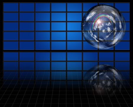Crystal sphere contaqins atmosphere