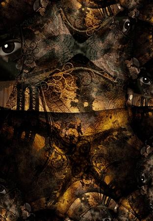 Grunge Dark Textured Bridge Abstract photo