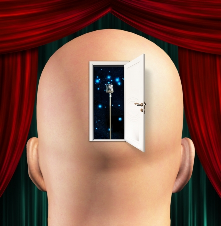 theater audience: Microphone inside mind