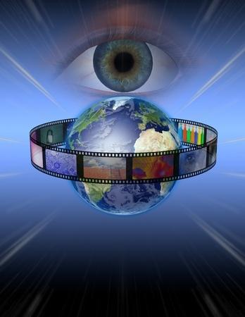 strip show: Eye watches earth film