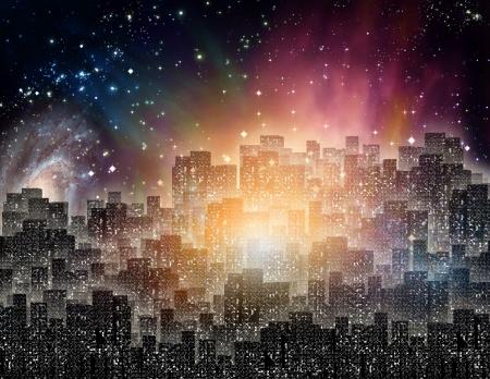urban life: De la ciudad iluminada por la noche