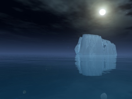 High Resolution Iceberg in open sea Stock Photo