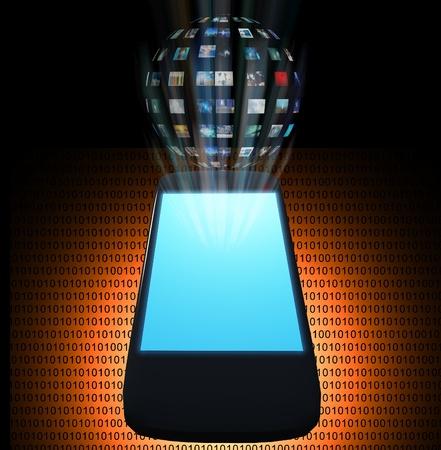 handheld device: Smart Phone Video Sphere or Image Sphere Stock Photo