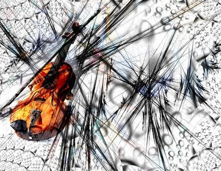 ヴァイオリン抽象 写真素材
