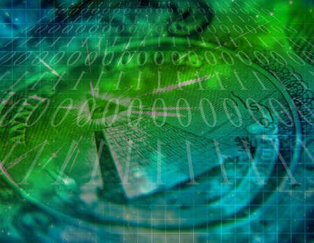 Binaire code en Amerikaanse munt Abstract