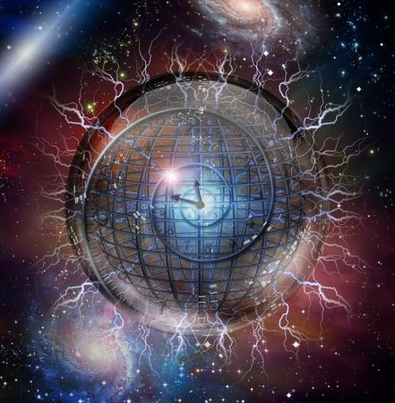 Espiral del tiempo encerrado en una esfera de cristal Foto de archivo - 11799983