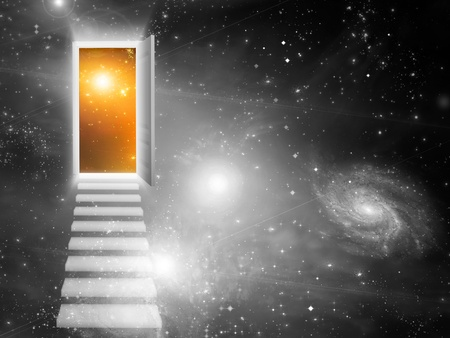 dream vision: Entrance Exit Stock Photo