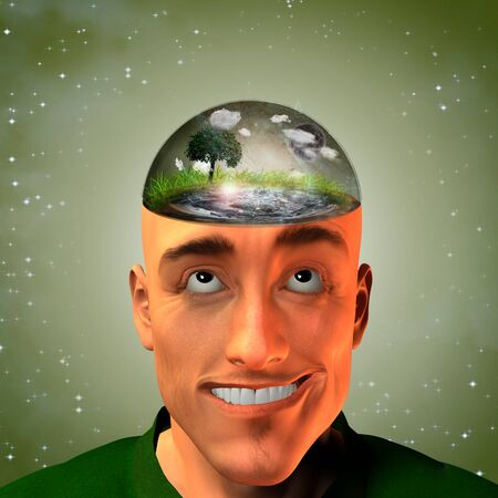 country life: Environment enclosed in Mans head