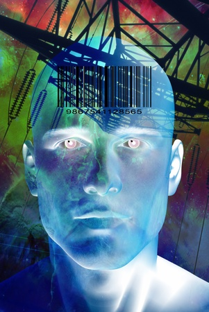 technolgy: High Resolution Future Man Stock Photo