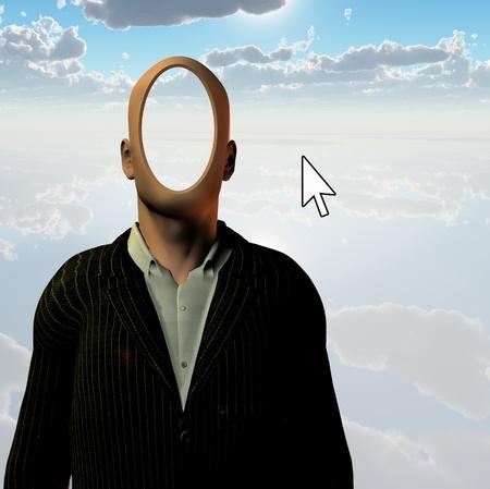 익명의 PC 사용자 스톡 콘텐츠