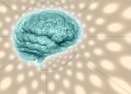 cerebral cortex: Psychedelic background brain Stock Photo
