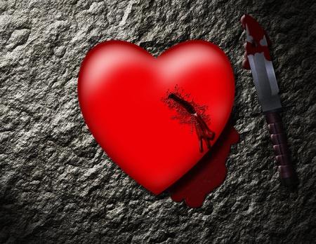 칼에 찔린 심장 스톡 콘텐츠