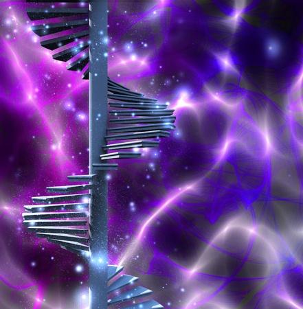 subiendo escaleras: Escalera Conceptuales Foto de archivo