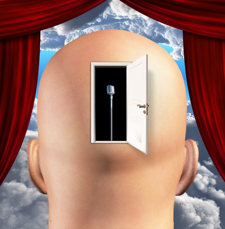 open mind: Microphone inside mind