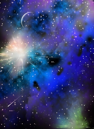 dark nebula: Space Stock Photo