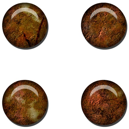 Grunge Rust Web Button Stock Photo